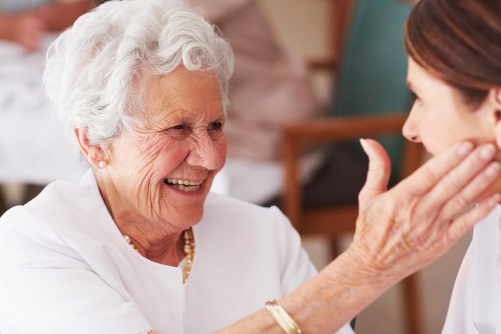 Elder lady with nurse