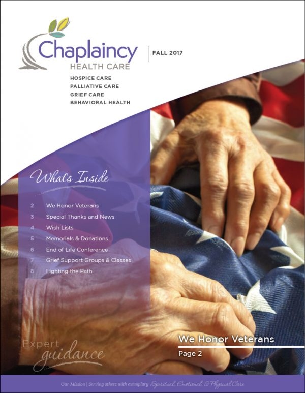 Chaplaincy Health Care Fall Newsletter
