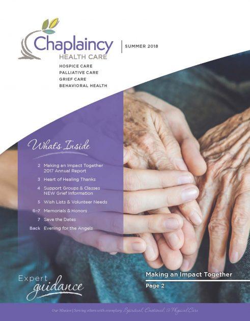 Chaplaincy Health Care Summer Newsletter
