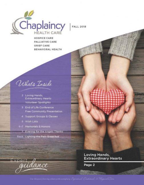 Chaplaincy Health Care Fall 2018 Newsletter
