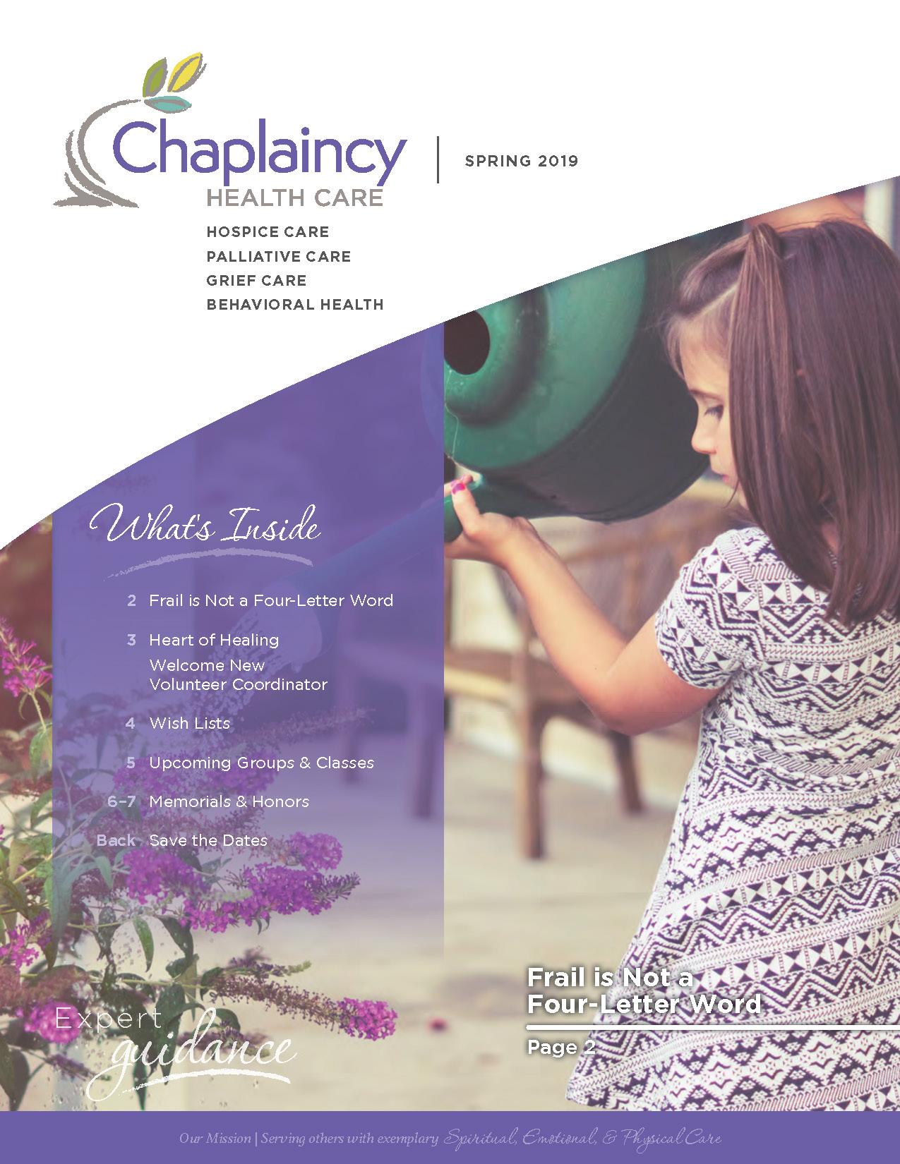 Chaplaincy Health Care Spring 2019 Newsletter