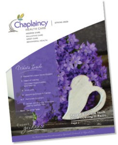 Cover of Chaplaincy Health Care Spring Newsletter