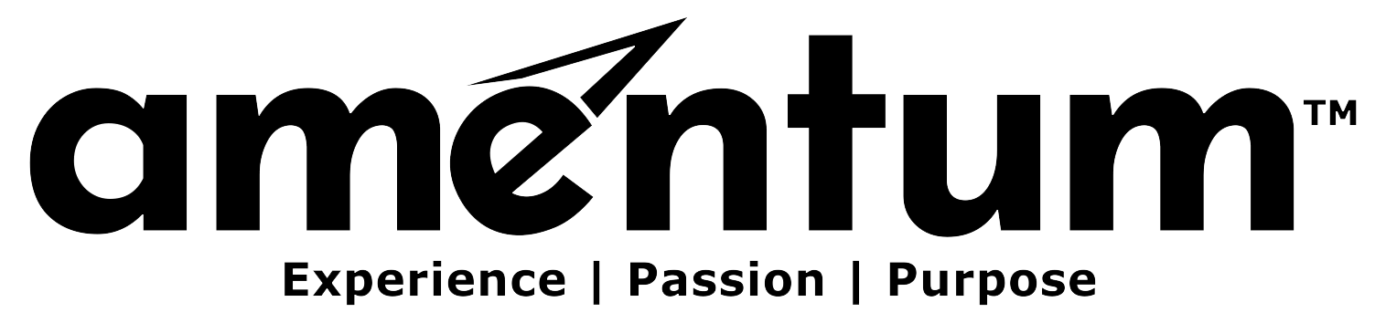 Amentum logo BW (experience-passion-prupose)
