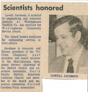 Lowell Jacobson Wins Award